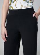 Pantalon pull-on à jambe large, Noir, hi-res