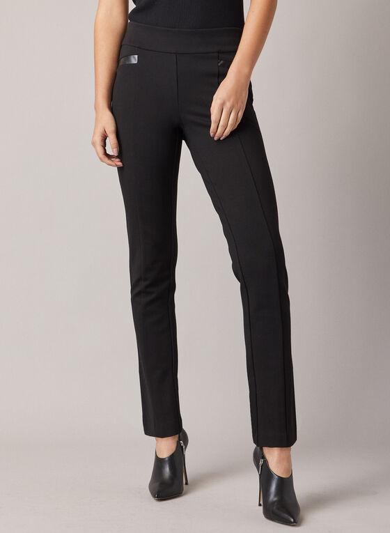 Pantalon Madison à jambe étroite, Noir