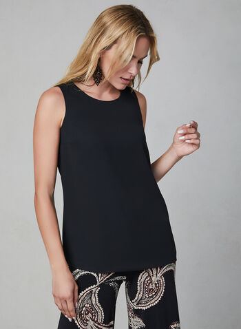Sleeveless Blouse, Black,  blouse, sleeveless, fall 2019, winter 2019