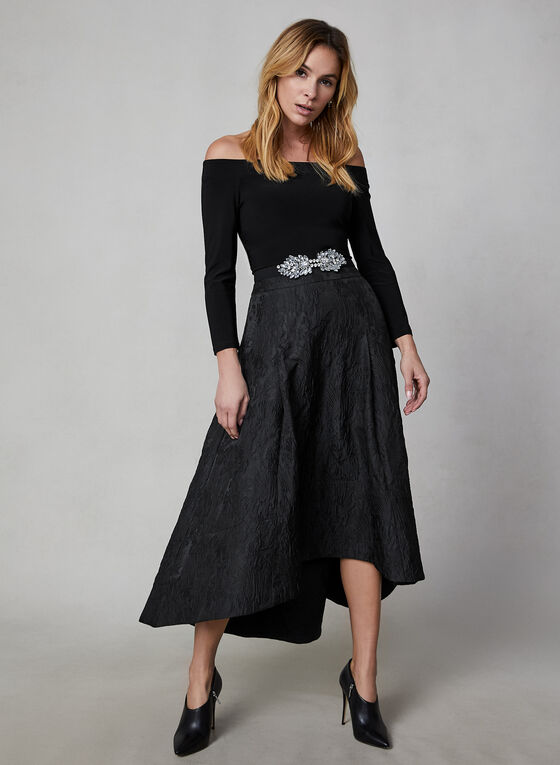 Jacquard Skirt, Black