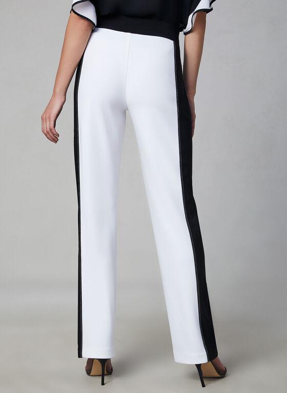 Joseph Ribkoff - Pantalon pull-on deux tons, Blanc