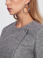 Wool Blend Wrap Collar Coat, Grey, hi-res