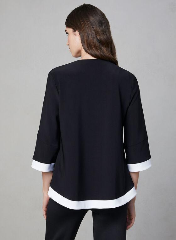 Joseph Ribkoff - Contrast Trim Jacket, Black