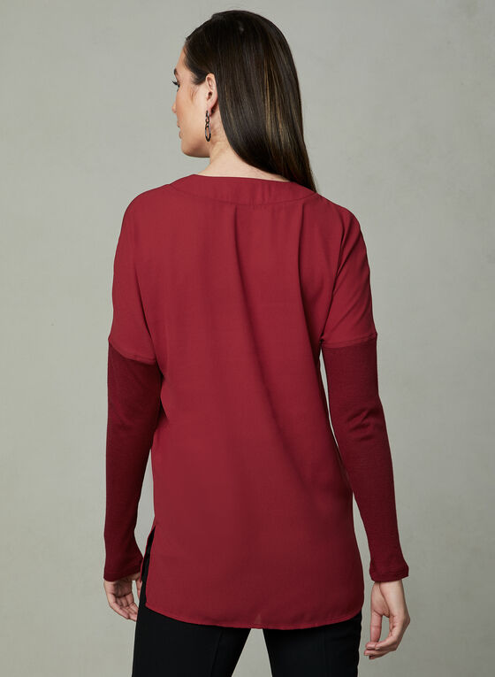 Knit Fooler Tunic, Red, hi-res