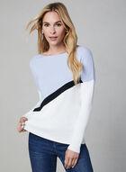 Colour Block Knit Sweater, Blue