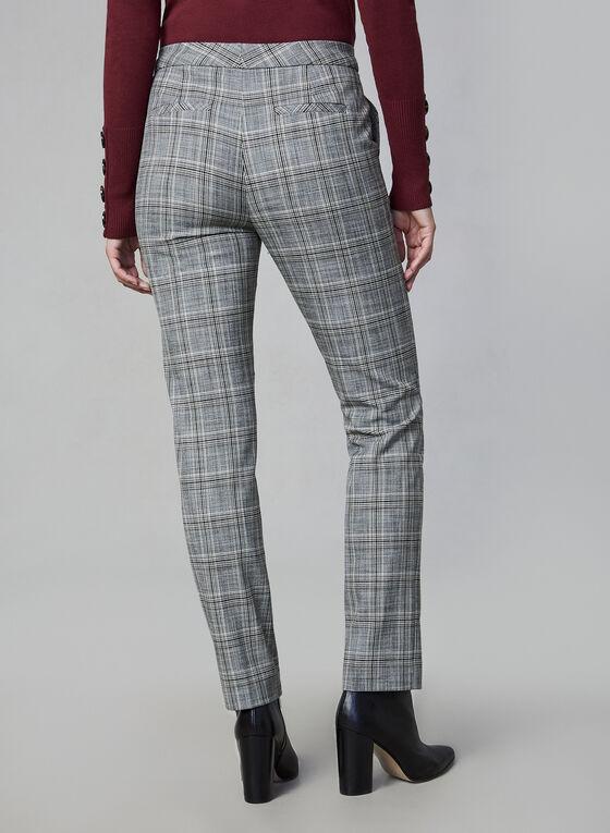 Pantalon à imprimé tartan, Gris, hi-res