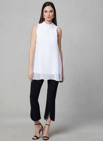 Joseph Ribkoff - Sleeveless Chiffon Tunic, Off White, hi-res