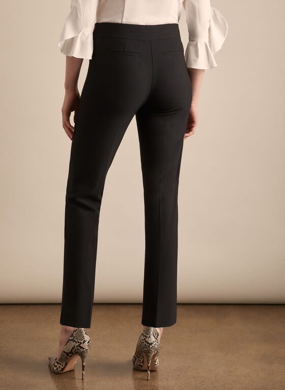 Amber Slim Leg Pants, Black