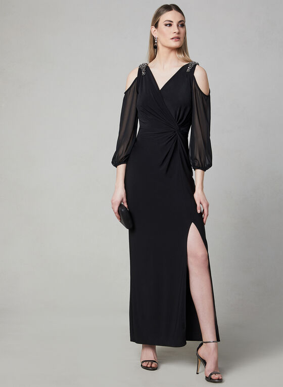 Alex Evenings - Bead Embellished Gown , Black