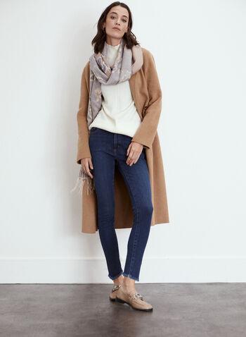 Yoga Jeans - Stretch Slim Leg Denim, Blue,  fall winter 2021, fall 2021, Yoga Jeans, the yoga jean, denim, pants, stretch denim, slim leg, stretch, 5 pockets, zip fly, button closure, belt loops, stitching, pockets, rivets