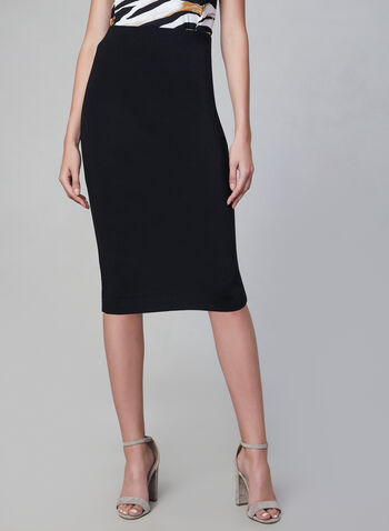 Pull-On Pencil skirt, Black,  fall winter 2019, pencil skirt, ponte di roma