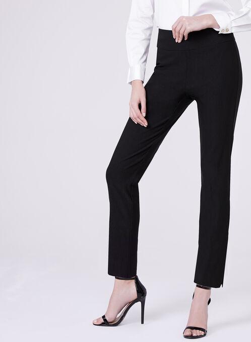 Pantalon jambe étroite à enfiler, Noir, hi-res