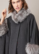 Mallia - Fur & Cashmere Blend Coat, Grey