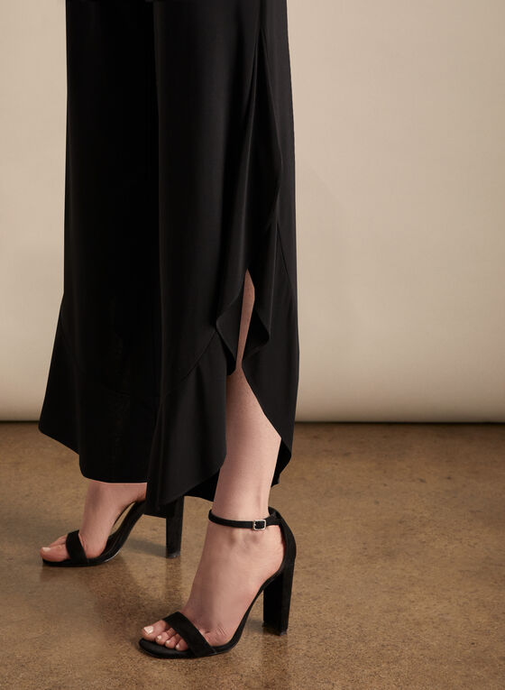 Joseph Ribkoff - Side Slit Wide-Leg Pants, Black