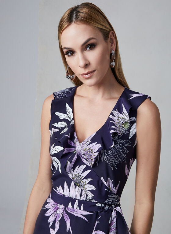 Vince Camuto - Floral Print Dress, Blue