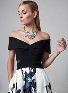 BA Nites - Floral Print Midi Dress, Black, hi-res