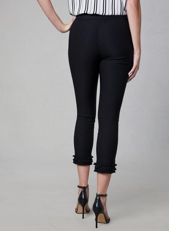 Charlie B - Bengaline Pull-On Capri Pants, Black