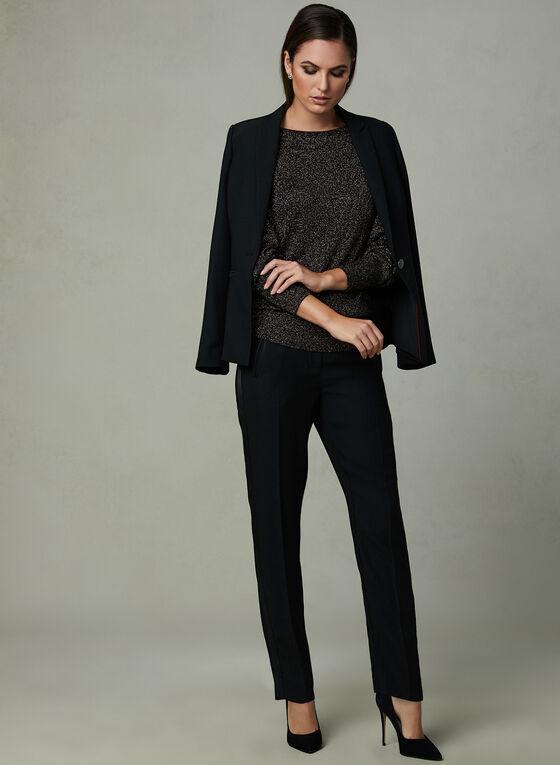 Glitter Knit Sweater, Black, hi-res