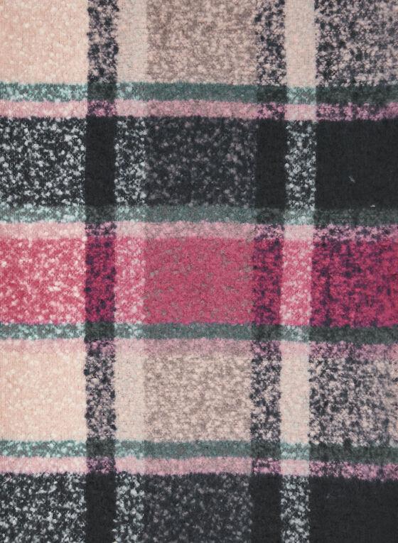 Foulard frangé à carreaux, Rose