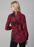 Tunique chemisier fleurie, Rouge, hi-res