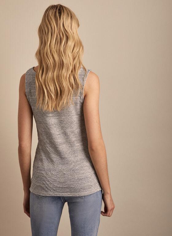 Sleeveless Jersey Top, Grey