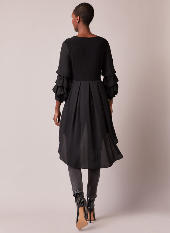 Joseph Ribkoff - Tiered Sleeve Tunic, Black
