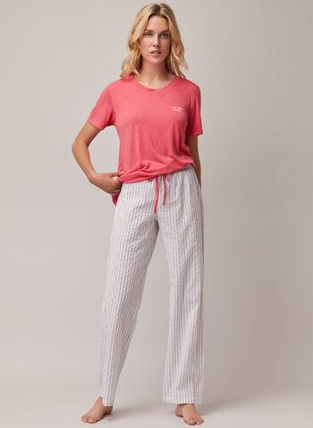 Stripe Print Drawstring Pants, Grey,  pyjamas, pants, drawstring, elastic, spring summer 2020