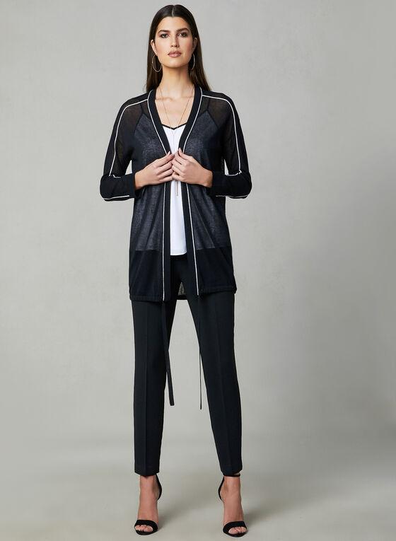 Cardigan à bordures contrastantes, Noir