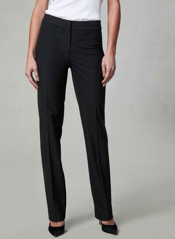 Pantalon Lauren à jambe droite, Noir, hi-res,