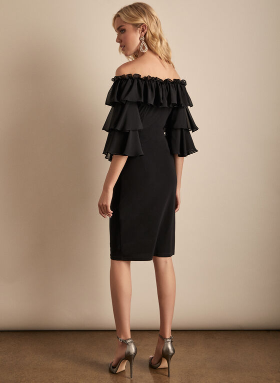 Joseph Ribkoff - Ruffle Sleeve Dress, Black