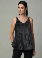 Capelet Metallic Top, Silver, hi-res