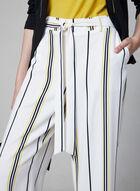 Jupe-culotte à rayures contrastantes, Blanc, hi-res