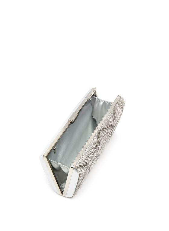 Minaudière cristaux géométriques, Argent, hi-res