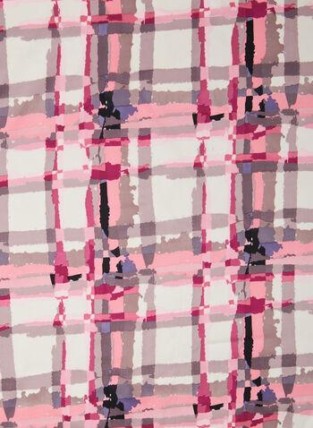 Foulard carré à carreaux, Rose,  foulard, carré, carreaux, printemps été 2020