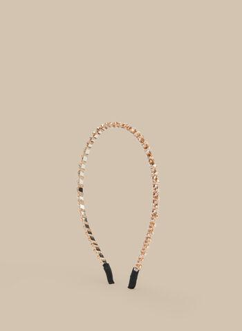 Thin Beaded Headband , Gold,  headband, beads, thin headband, hair accessory, prom accessory, spring 2020, summer 2020
