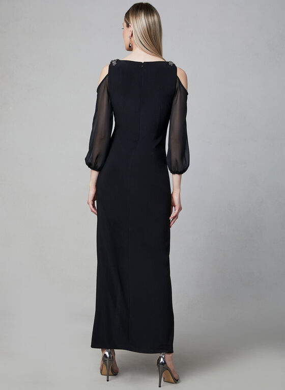 Alex Evenings - Bead Embellished Gown , Black, hi-res