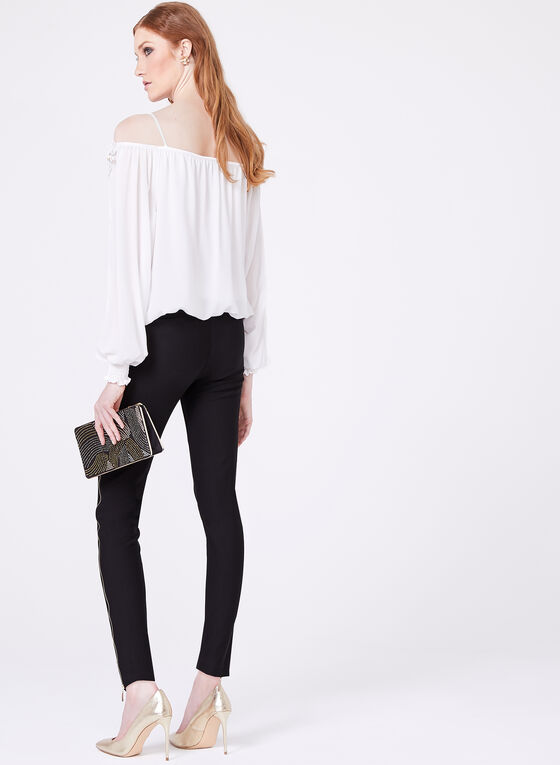 Frank Lyman - Off The Shoulder Appliqué Blouse, Off White, hi-res
