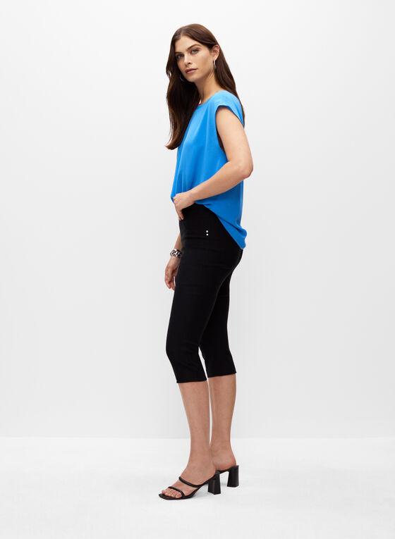 Bengaline Pull-On Capris, Black