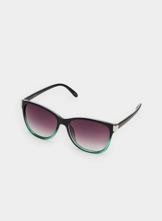 Two Tone Sunglasses , Green