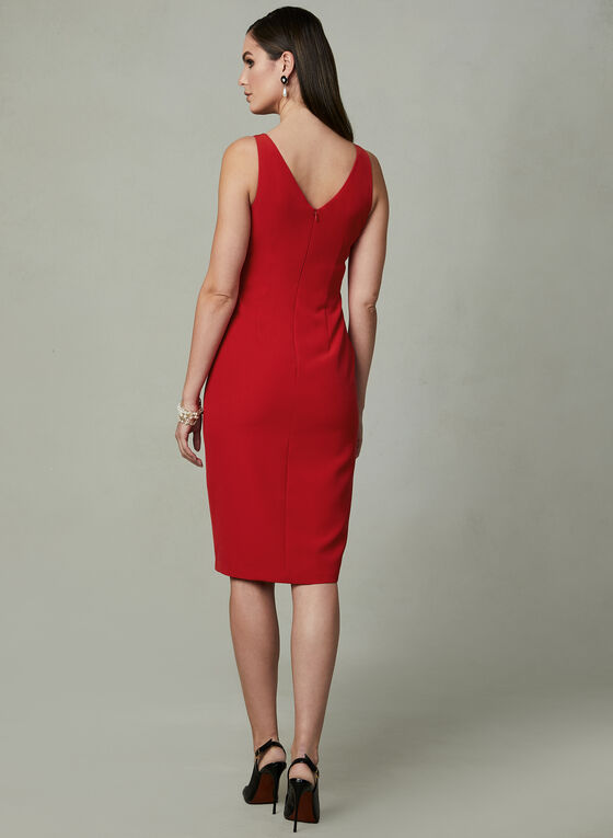 Maggy London - Sleeveless Sheath Dress, Red, hi-res