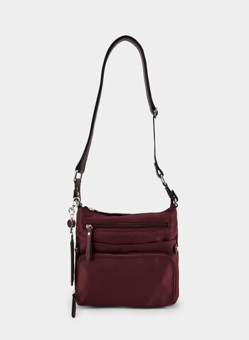 Zipper Top Crossbody Bag, Red, hi-res,  fall winter 2019, faux-leather, crossbody