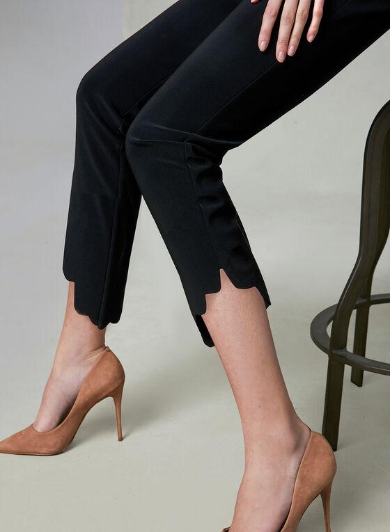 Joseph Ribkoff - Pantalon jambe étroite à ourlet festonné, Noir, hi-res