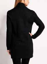 Cardigan en tricot ouvert avec strass, Noir, hi-res