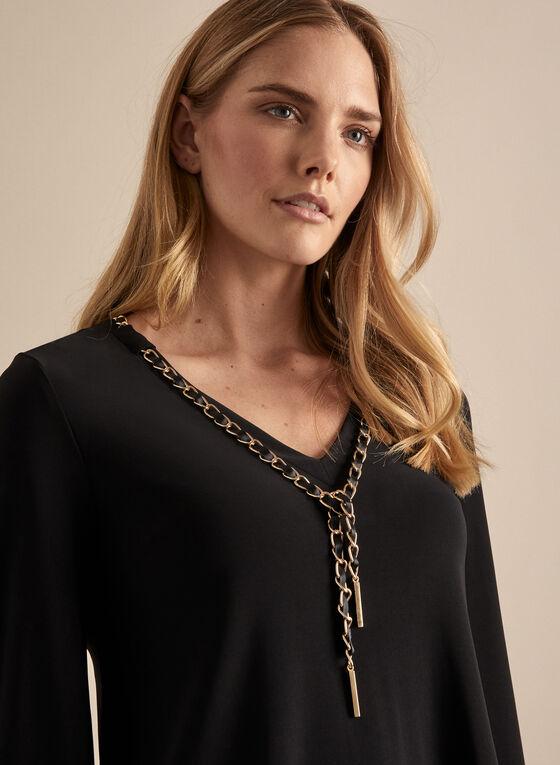 Frank Lyman - Chain Detail Jersey Top, Black