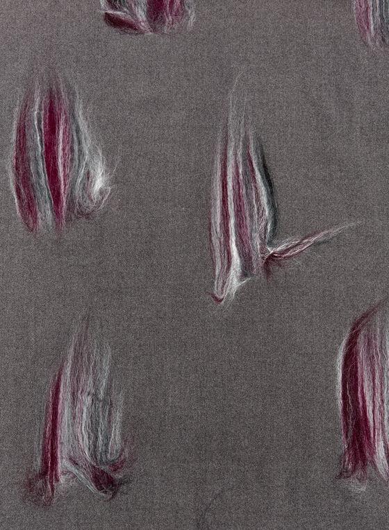 Brushstroke Print Scarf, Grey, hi-res