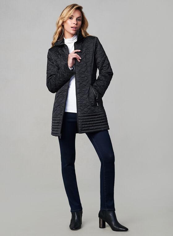 Karl Lagerfeld Paris - Manteau matelassé zippé, Noir, hi-res