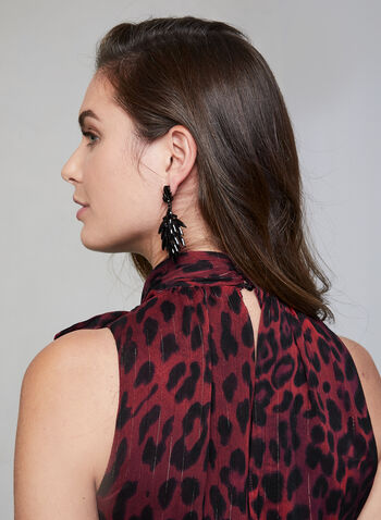 Leopard Print Chiffon Dress, Red, hi-res,  fall winter 2019, dress, leopard print, chiffon