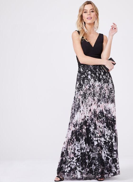 BA Nites - Robe avec jupe en mousseline plissée, Noir, hi-res