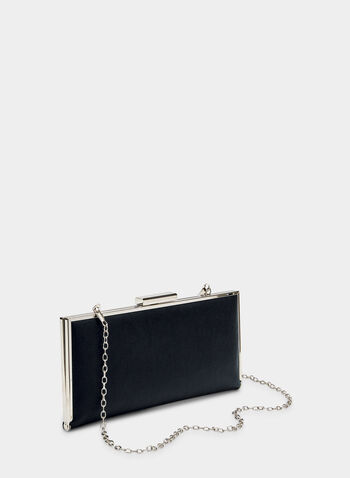 Glitter Box Clutch, Blue, hi-res,  metallic, rectangular, fall 2019, winter 2019
