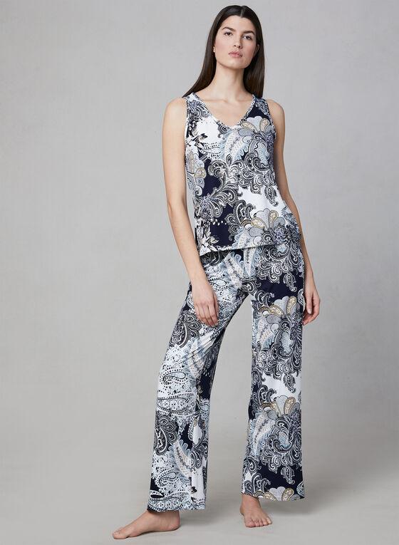 Hamilton - Pyjama 2 pièces à motif caftan, Bleu, hi-res